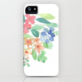 Cluster of flowers iPhone Case