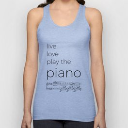 Live, love, play the piano Unisex Tank Top