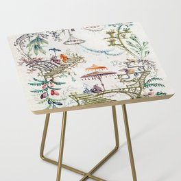 Enchanted Forest Chinoiserie Side Table
