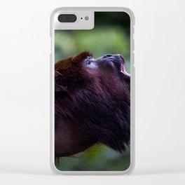 Mono Aullador Clear iPhone Case