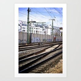 Train Yard in Germany Art Print