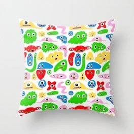 Monster Goop Throw Pillow