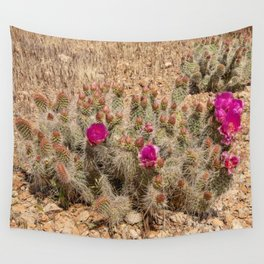 Desert Cacti in Bloom - 2 Wall Tapestry