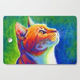 Rainbow Cat Portrait Cutting Board