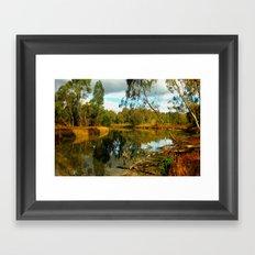 Dusk over a Swamp Framed Art Print