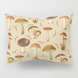Wild Forest Mushroom Pattern Pillow Sham