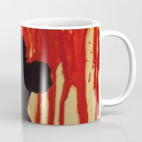 power ranger Mugs featuring Red Power Ranger by Oksana's Art