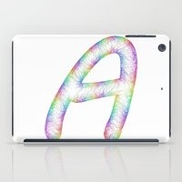 letter iPad Cases featuring Letter A by David Zydd