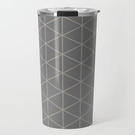 STAMEN popular taupe pattern with beige linear triangles Travel Mug