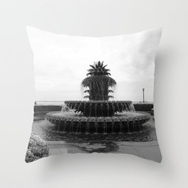 Pineapple Fountain Charleston River Park Throw Pillow