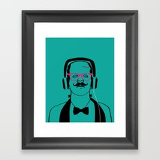 Hipsterstein Framed Art Print