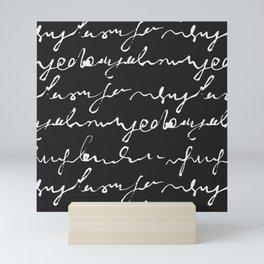 Doodles Letters Black Mini Art Print