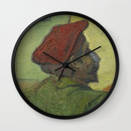 Paul Gauguin (Man in a Red Beret) Wall Clock