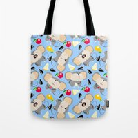 mouse Tote Bags featuring mouse by Tanya Pligina