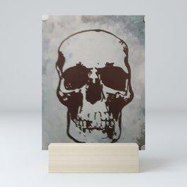 Skull in Blue Mini Art Print