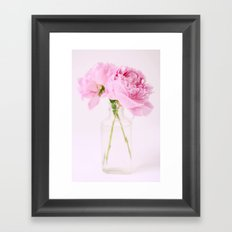 Peonies Framed Art Print