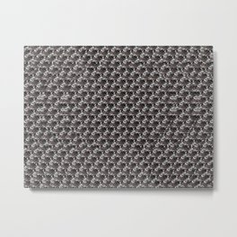 See the hidden 3d image * Great texture even when you can't see the 3D! Metal Print