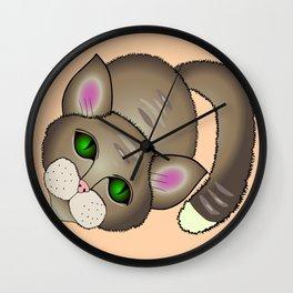 Sad cat Wall Clock