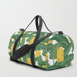 Bananas and Leaves - Bg White Duffle Bag