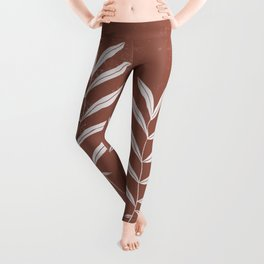 Abstract Leave Pattern Leggings