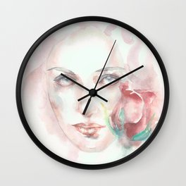 Simple Things Watercolor Wall Clock
