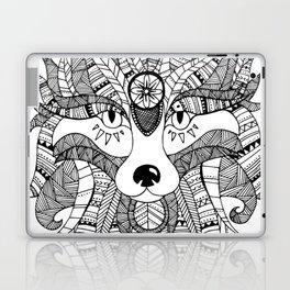 Tribal Wolf Illusration Laptop & iPad Skin