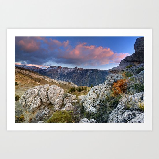 """Mountain Light"". Sunset at the Alayos. Art Print"