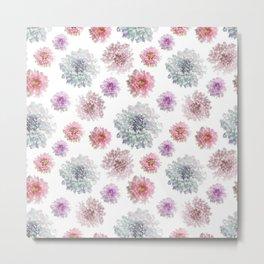 Cute Floral Pattern Metal Print