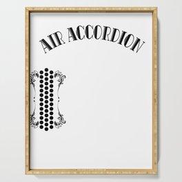 Accordion Accordionist T Shirt Gift Air Accordion Serving Tray