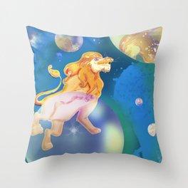 bubble lion Throw Pillow