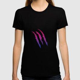 Bisexual Pride Flag Ripped Funny Bi Scratch LGBT Gift Design Cool Pun Humor T-shirt
