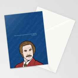 Ron Burgundy Anchorman  Stationery Cards