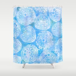 Gelatin Monoprint 22 Shower Curtain
