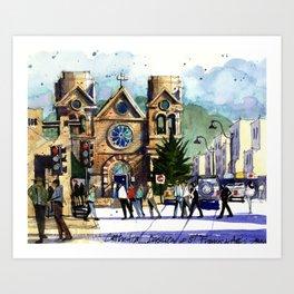 Saint Francis Cathedral, Santa Fe Art Print