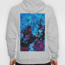 Teal (Blue) Abstract Acrylic Painting Hoody