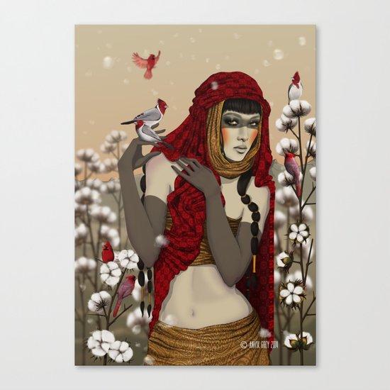 Cotton. Canvas Print
