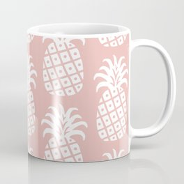 Retro Mid Century Modern Pineapple Pattern Dusty Rose 2 Coffee Mug