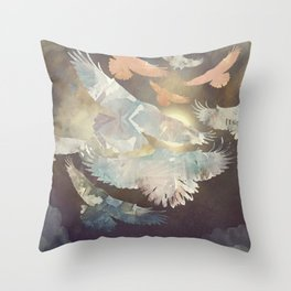 Midnight Flight Throw Pillow