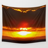 sunset Wall Tapestries featuring Sunset by ....