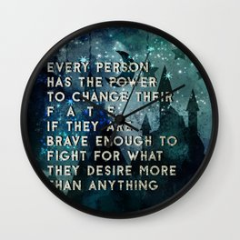 Change your fate Wall Clock