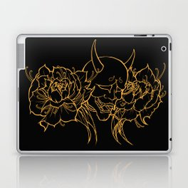 Hannya and Peonies Laptop & iPad Skin