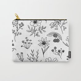 White Patagonian Flowers Carry-All Pouch