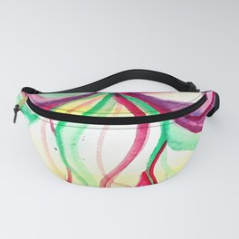 Red and Green Holiday watercolor Fanny Pack