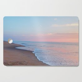 Pink ocean sunrise - minimalist landscape photography | Rehoboth Beach, DE Cutting Board