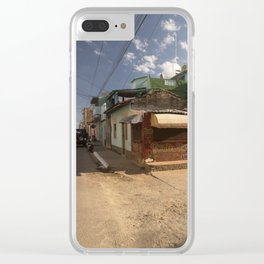 Small market, on the corner of a street, in Trinidad, Cuba. Clear iPhone Case