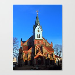 The village church of Aigen   architectural photography Canvas Print