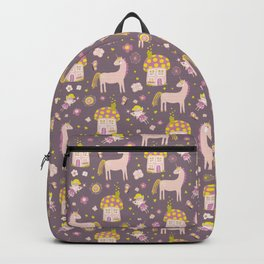 Fairytale Forest Fairy Toadstool House Unicorn Backpack