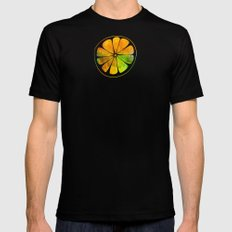 Orange Orchard Black Mens Fitted Tee MEDIUM