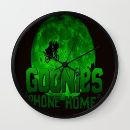 Green Goonies Phone Home Wall Clock