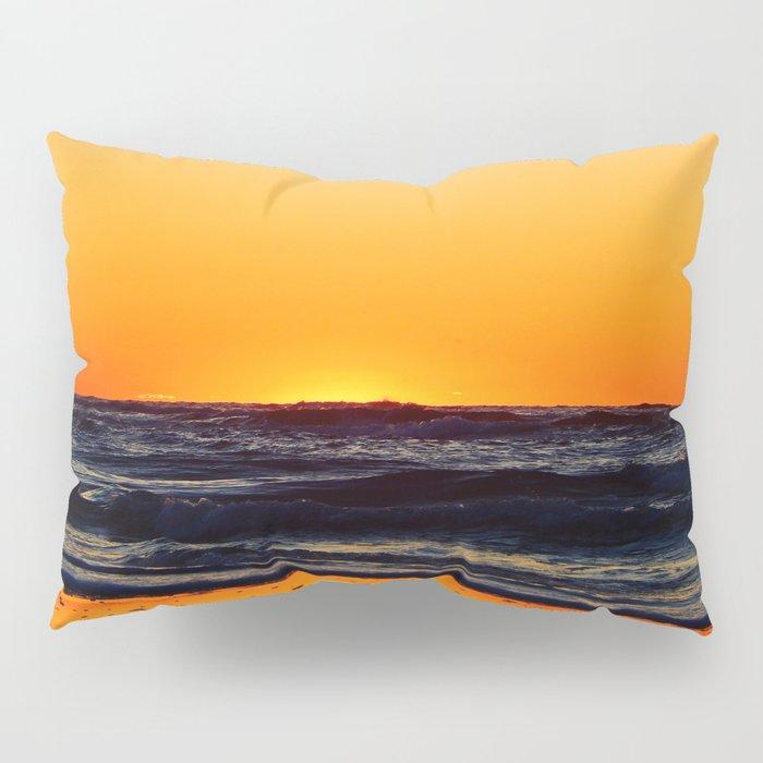 Orange Sunset on the Beach Pillow Sham
